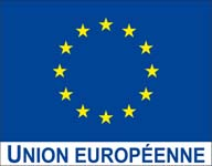 Drapeau Union europeenne avec logo UE small