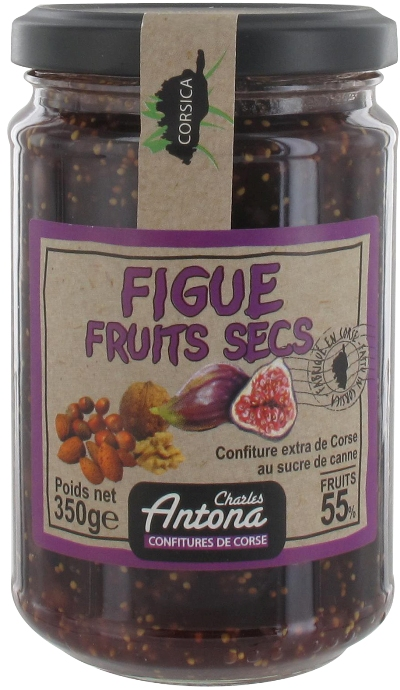 Confiture Extra de Corse Charles Antona Figue-Fruits Secs 350g